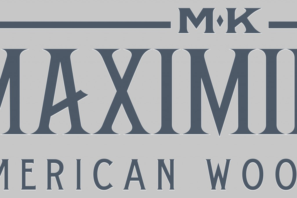 M.K. Maximilian text logo zoom-in