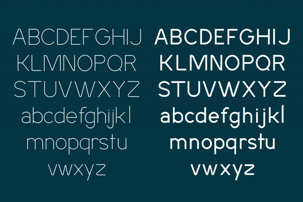 Sans-serif letters