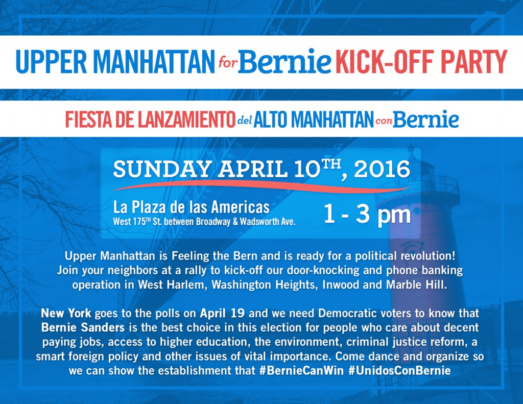 Upper Manhattan Kick-Off Party Flyer