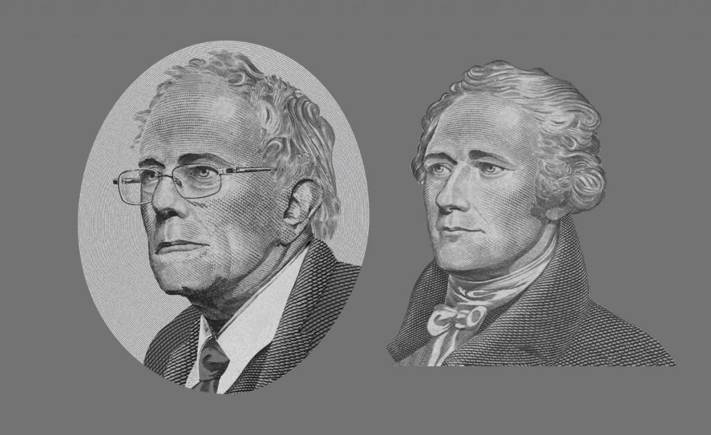 Bernie Sanders portrait for the dollar bill.