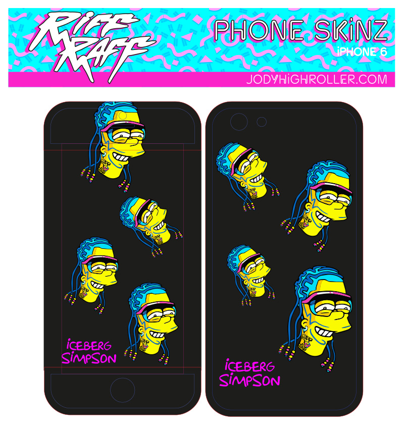 Iceburg Simpson phone skin